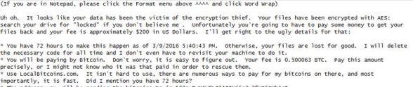 Ransomware Letter